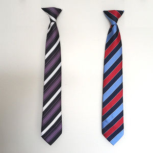 Other - 2 Striped Clip-on Ties Set Easy Neckties for Boys